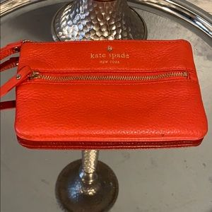 Kate Spade purse Leather change purse red